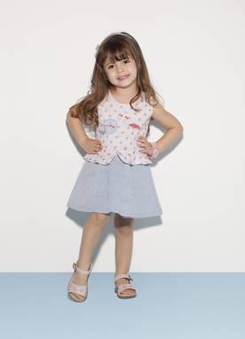 Vestido infantil saia