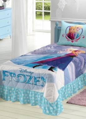 Colcha Matelassê com Babado Frozen