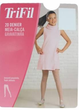Meia Calça Trifil Gravatinha Fio 20 Infantil