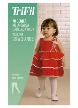Meia-calca trifil canelada fio 70 6897 bebe