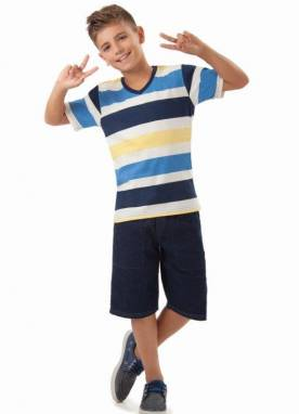Camiseta Masculina Jeans