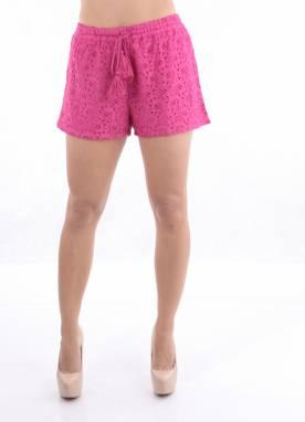 Shorts Feminino com Renda
