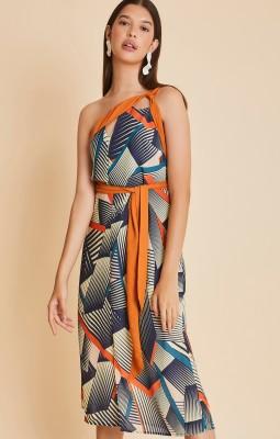 Vestido Assimétrico print