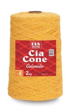 COLORIDO CIA CONE 2KG 4/8 AMARELO CANÁRIO