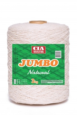 BARBANTE NATURAL JUMBO 3Kg | CIA TEXTIL