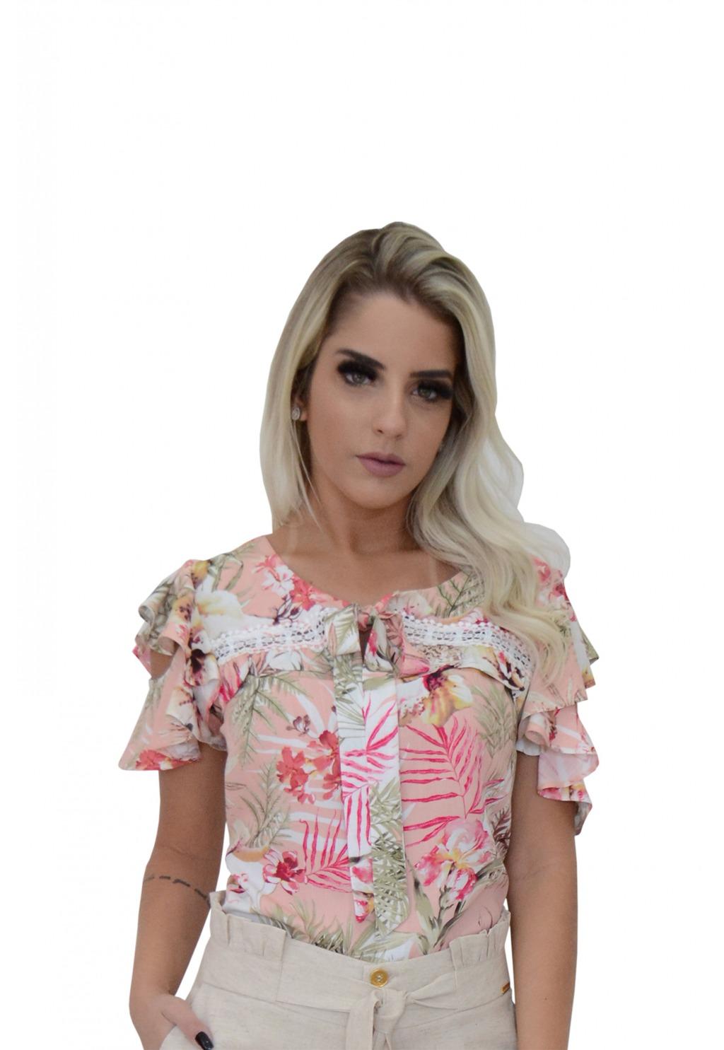 Blusa Mamorena detalhe entremeio e babadinho