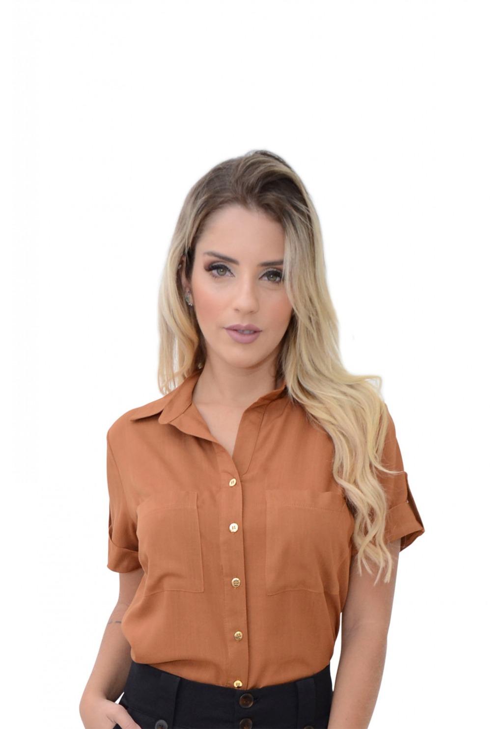 Blusa Mamorena com detalhe manga e bolso
