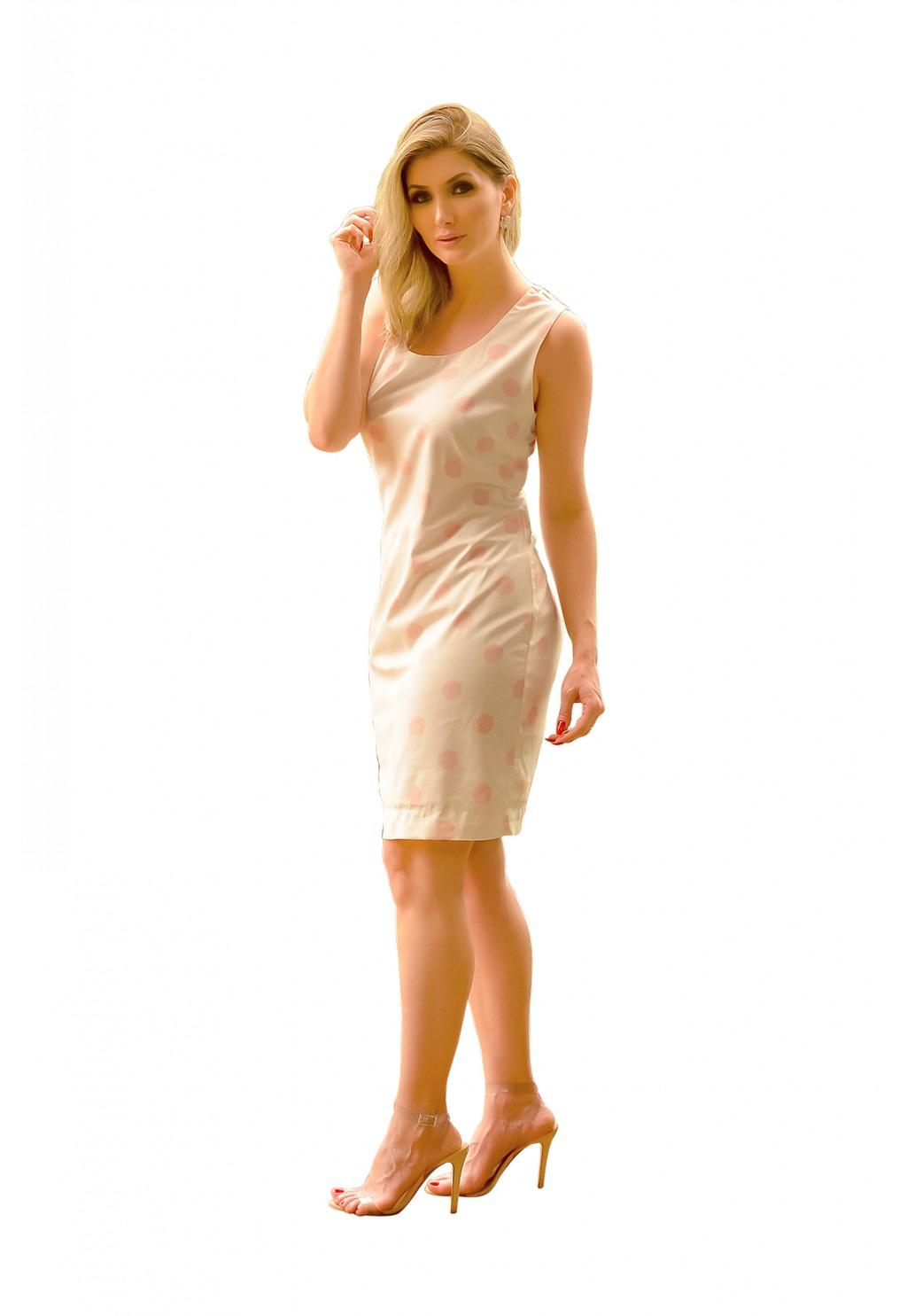 Vestido Mamorena cavado estampado