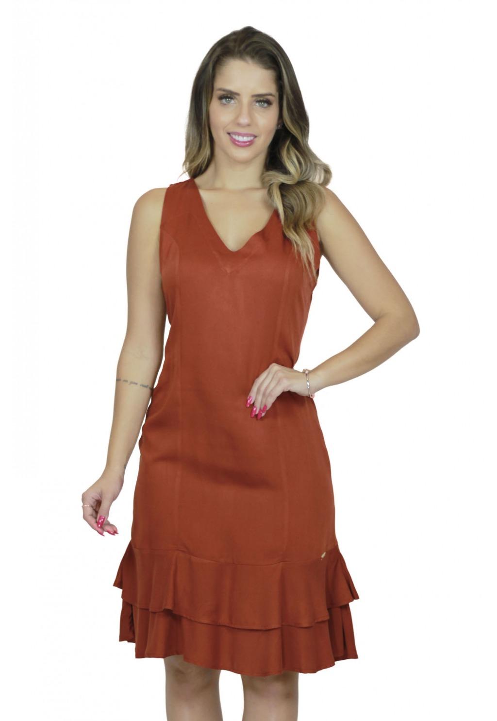 Vestido Mamorena cavado com peplum
