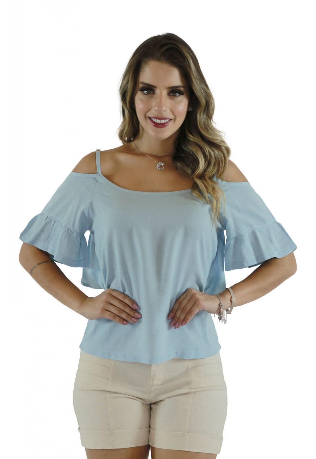 Blusa Mamorena ombro vazado alcinha