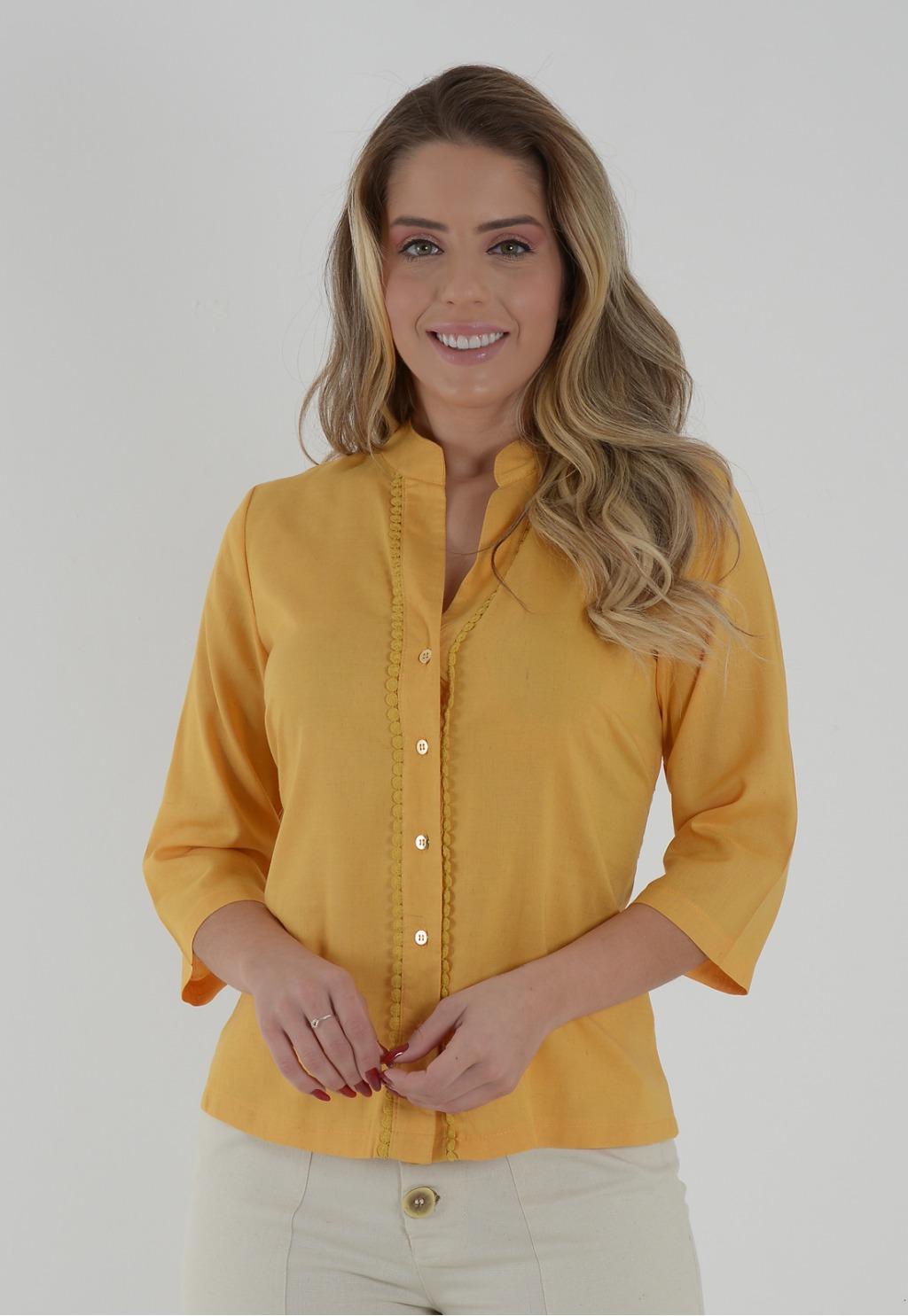 Camisa Mamorena costas com guipir