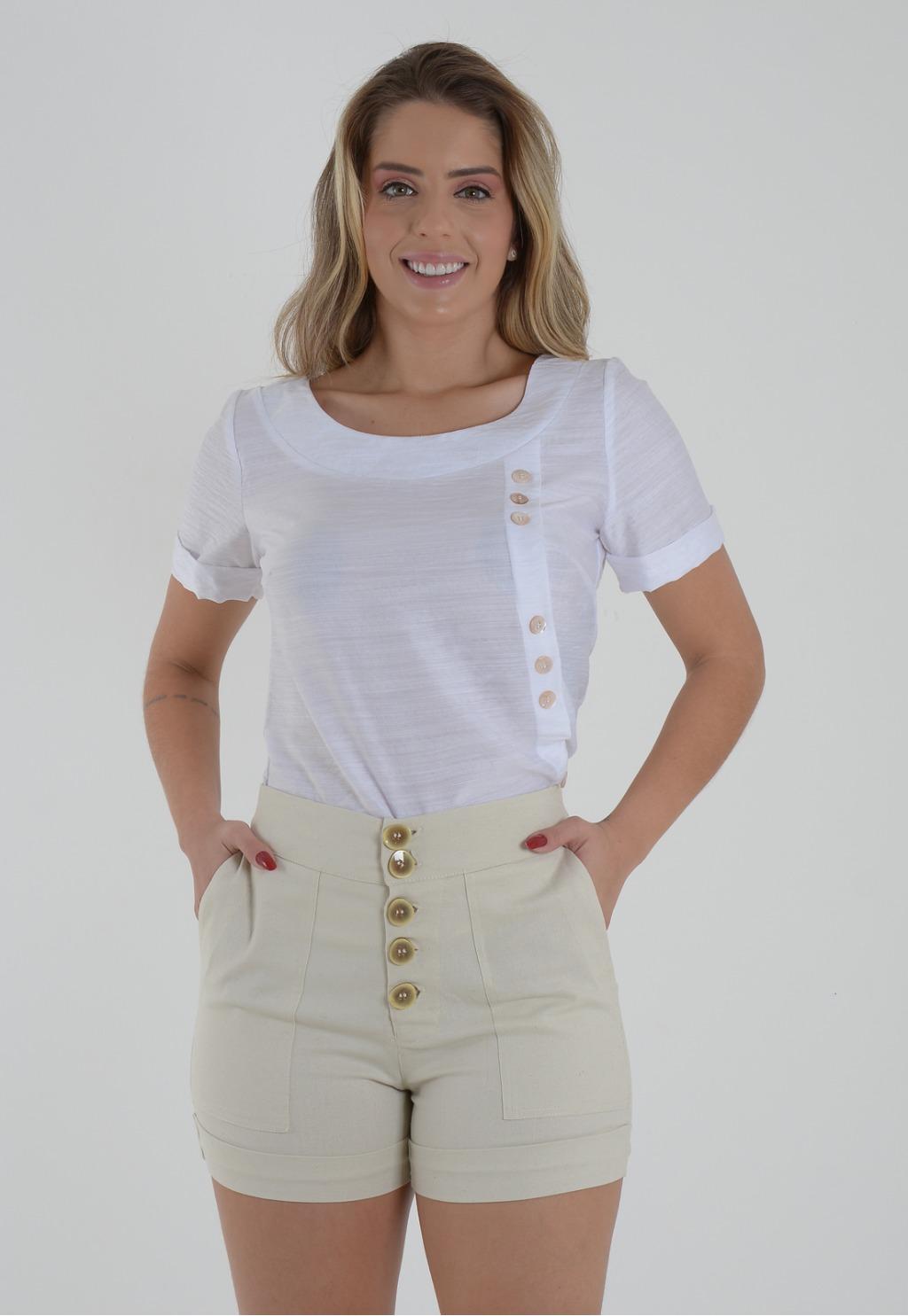 Blusa Mamorena básica com botões