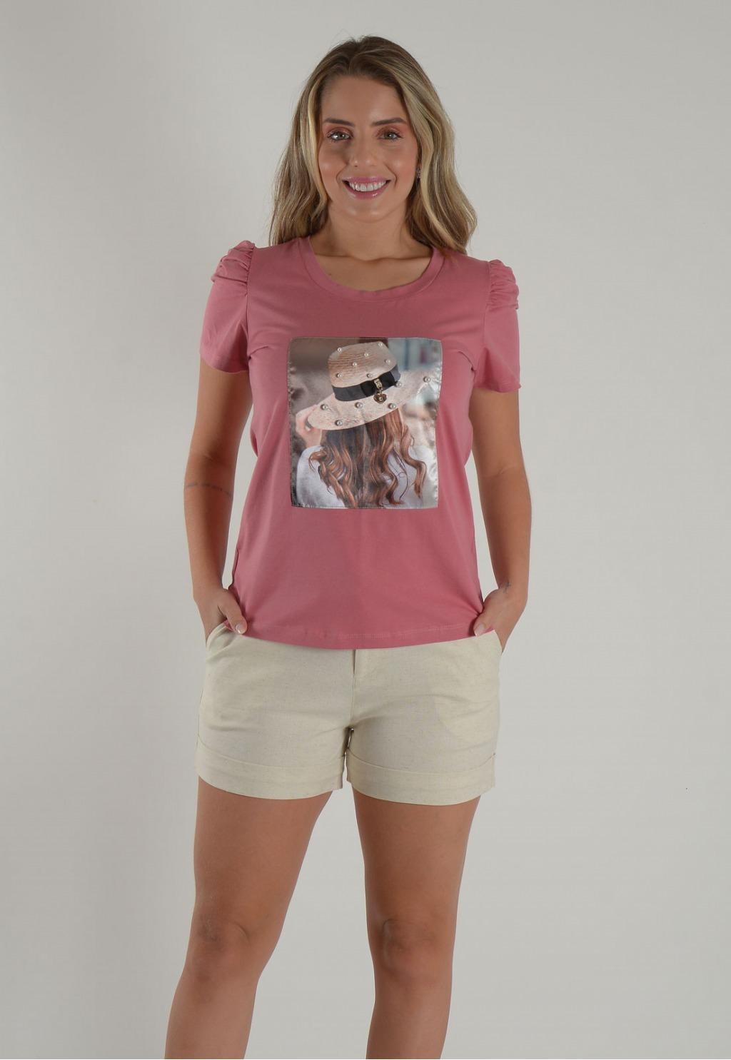 Blusa Mamorena t-shirt manga bufante