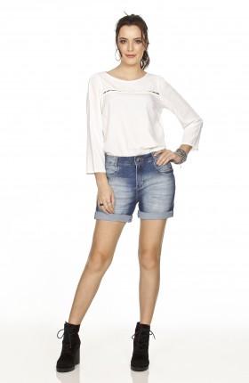 bermuda jeans feminina