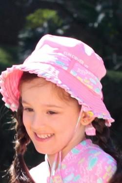 Chapéu Primavera Peixe Rosa UV SUN COVER
