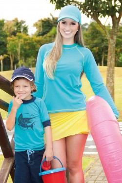 Camiseta Surf Feminina UV SUN COVER