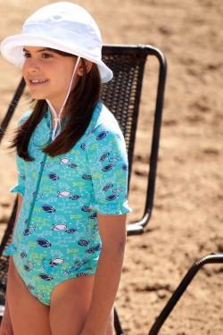Maiô Infantil Peixe Azul UV SUN COVER