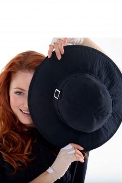 Chapéu Dijon Preto de Proteção UV SUN COVER