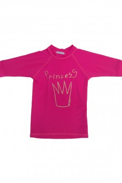 Camiseta Surf kids manga curta Princess UV Sun Cover