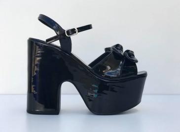 Sandália Plataforma- Black Bright