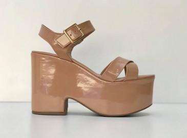 Sandália Plataforma Loli- Nude Bright