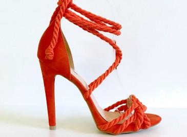Sandália em cordas Luxe- Orange
