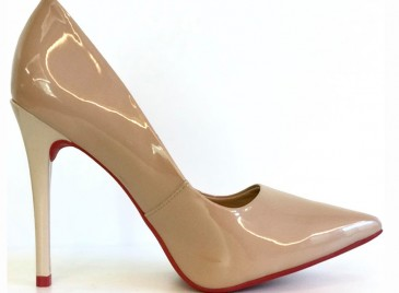 Scarpin Red Sole Nude Bright