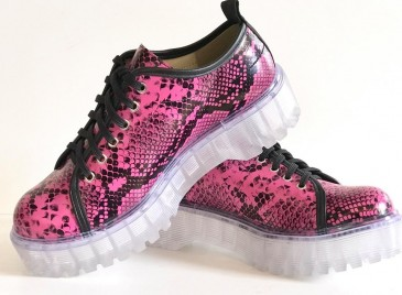Tenis Casual Clear Snake Pink