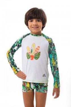 camisa estampada infantil